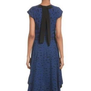 PROENZA SCHOULER SILK DRESS BLUE/BLACK SIZE 10